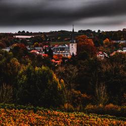 Heuvellandschap in de Herfst
