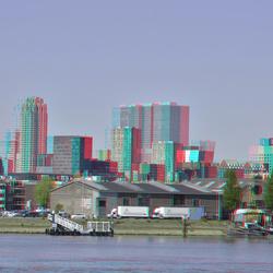 Zicht op Rotterdam in stereo