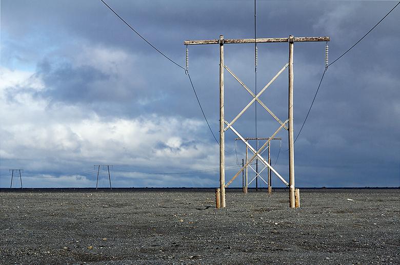 IJsland 86 - Op de uitgestrekte stroomvlakte in het zuiden.