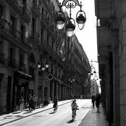 Barcelona - Licht en schaduw Carrer de Jaume