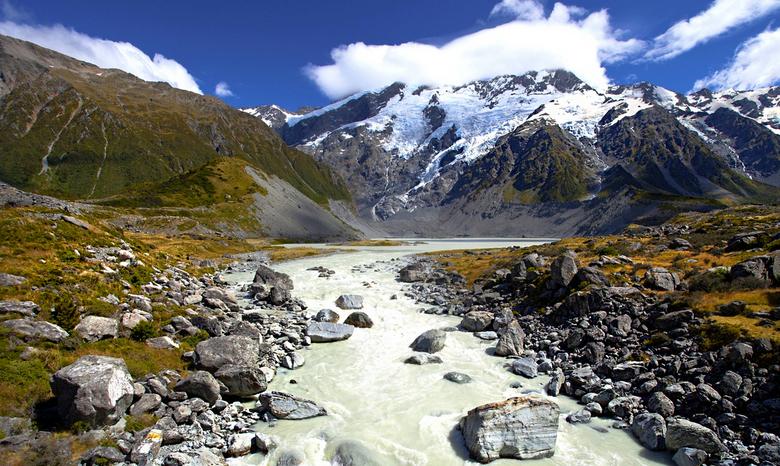 Nieuw - Zeeland 036 - Een klein riviertje wat we moesten kruisen.