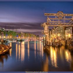 Wolwevershaven Dordrecht in de avond
