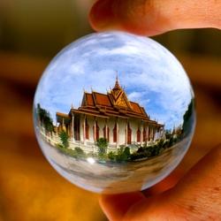 The Silver Pagoda, Phnom Penh – Cambodia. Crystal ball