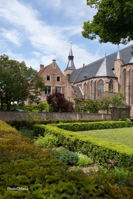 Zicht op de grote kerk - De Grote of Andreaskerk is een kerk aan de Markt in de stad Hattem. Hier zie je de achterzijde<br /> <br /> Bedankt voor ju
