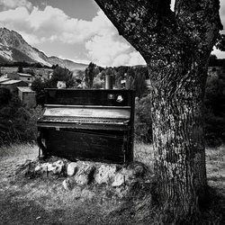Piano in the mountains