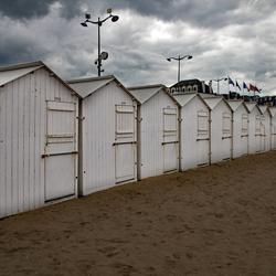 Strandkotjes Normandie.