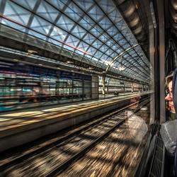 vertrek van hauptbahnhof Berlin
