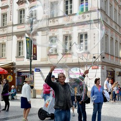 Zeepbel in Praag.