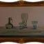 Glas uit de collectie Vecht geschilderd naar idee van Henk Helmantel