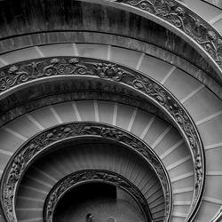 van boven, trap