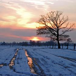 Winterse ondergaande zon!