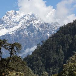 Annapurna Himal bij Chame (Nepal)
