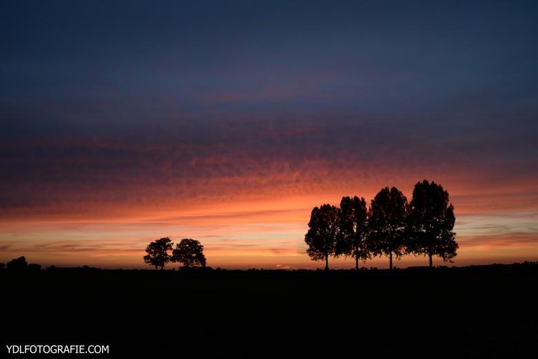Prachtige zonsondergang  -