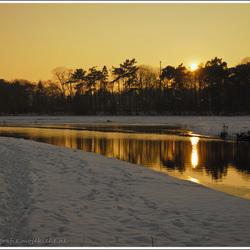 Zonsondergang in Markdal