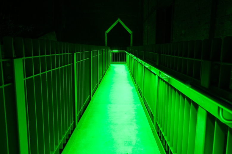 perpectief in groen -