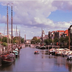 Analoge foto van Delfshaven, Rotterdam