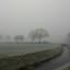 Drenthe in de winterse mist