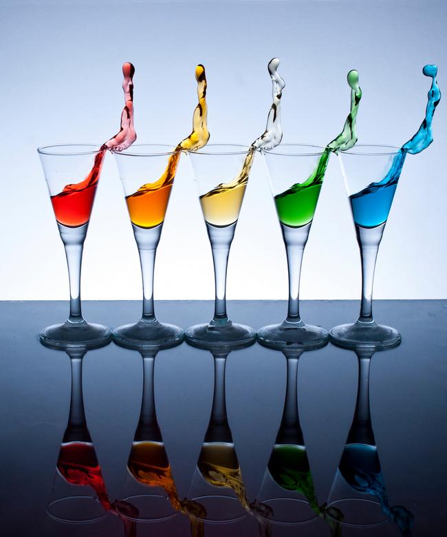 Rainbow color splash