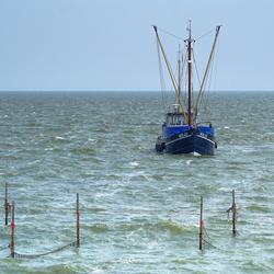 Vissers op het IJsselmeer