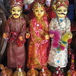 Feestkleding te koop in Jaipur, India