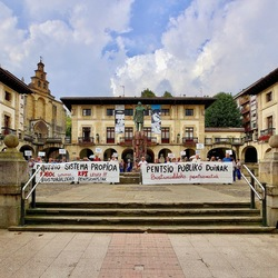 Pensioen protest Quernica.