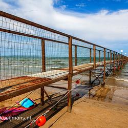 Pier op het strand van Rimini