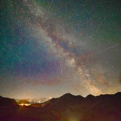 Melkweg boven Stelviopas