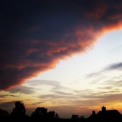Rollende wolken