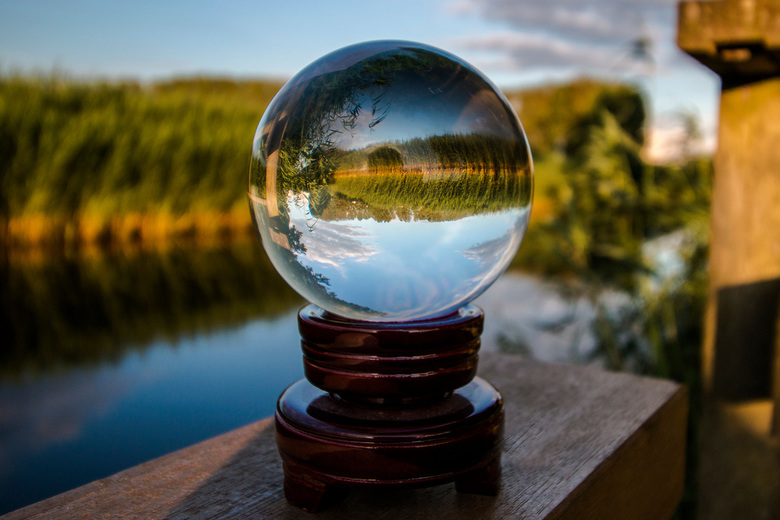 Small Nature In A Glass Ball  -