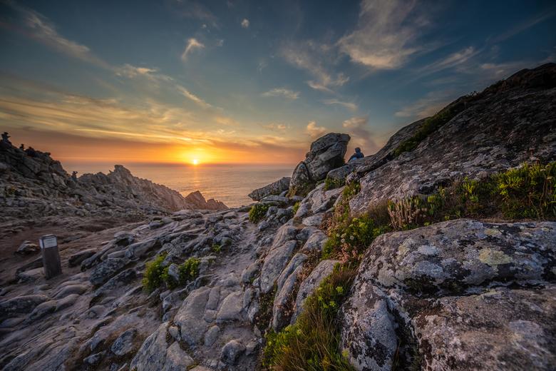 Point du Raz - Zonsondergang boven de Atlantische oceaa