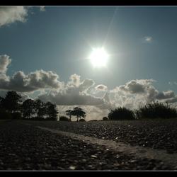 Tegenlicht op de weg.....