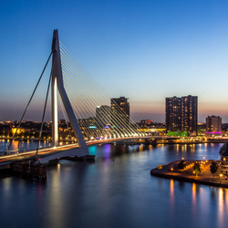 Rotterdam after sunset