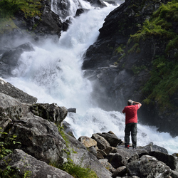 waterval bij latefoss in Noorwegen