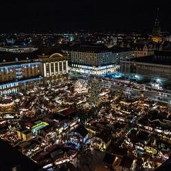 Lichtjes op de Striezelmarkt.