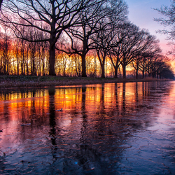 Frozen sunrise!