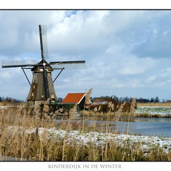 Kinderdijk in de winter