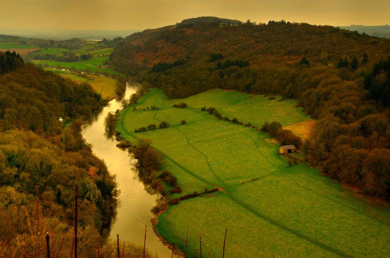 Symonds Yat. - Op de grens van Engeland en Wales in het Forest of Dean.Mijn balans is nog goed het is daar ongeveer 125 meter hoog.