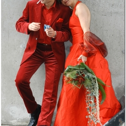 Wedding in Red