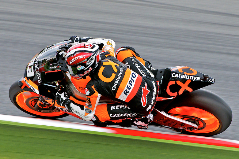 Marc Marquez - Tijdens de motogp op Catalunya.