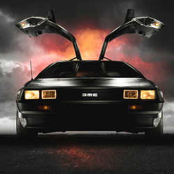 Back to the Future met de DELOREAN DMC12