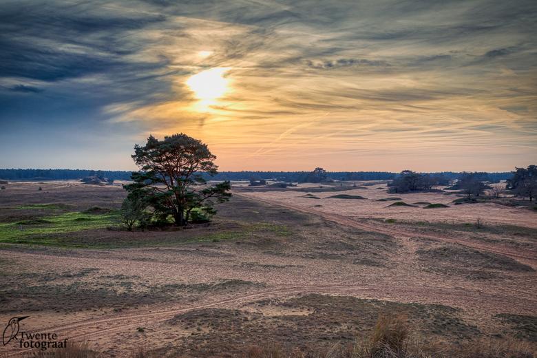 De woestijn - Zonsondergang bij het Kootwijkerzand