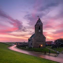De Mariakerk tijdens een prachtige zonsopkomst!