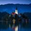 Blauwe uurtje bij Bled