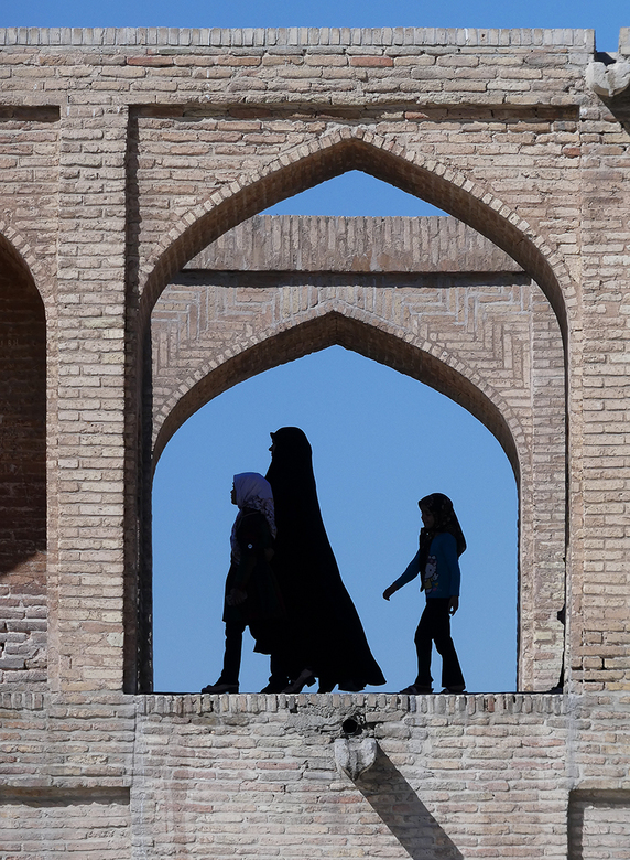 Isfahan brug over droge rivier in Iran -