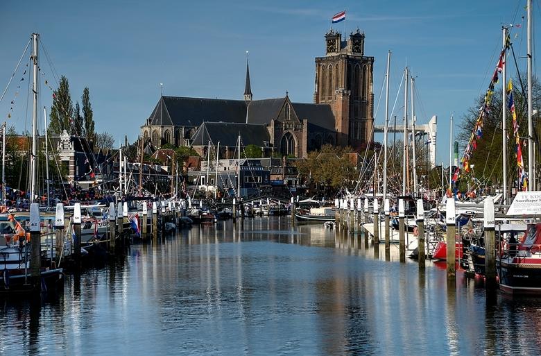 Dordrecht Nieuwehaven vanaf Vlak