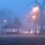 Een koud en mistig begin van de dag