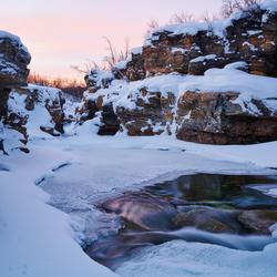 Winter rivier Lapland