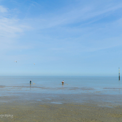 Vissers aan het strand