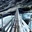 Hangbrug bij de Nigardsbreen Noorwegen
