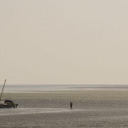 Man op het water